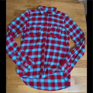 Hollister light weight flannel size S